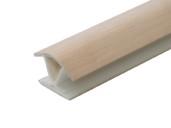 Соединитель 135гр. кухонного цоколя пластик Дуб беленый L=1м FIRMAX
