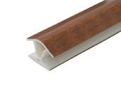 Соединитель 135гр. кухонного цоколя пластик Орех темный L=1м FIRMAX