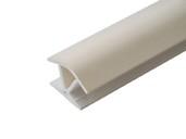 Соединитель 135гр. кухонного цоколя пластик Ваниль L=1м FIRMAX