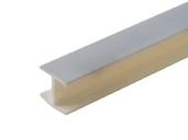 Соединитель 180гр. кухонного цоколя пластик Алюминий гладкий L=1м FIRMAX