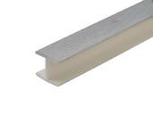 Соединитель 180гр. кухонного цоколя пластик Алюминий шлифованый L=1м FIRMAX
