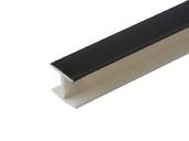 Соединитель 180гр. кухонного цоколя пластик Черный L=1м FIRMAX