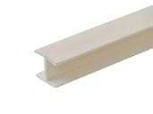 Соединитель 180гр. кухонного цоколя пластик Ваниль L=1м FIRMAX