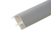 Соединитель 90гр. кухонного цоколя пластик Алюминий гладкий L=1м FIRMAX