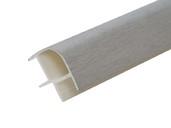 Соединитель 90гр. кухонного цоколя пластик Алюминий шлифованый L=1м FIRMAX