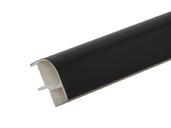 Соединитель 90гр. кухонного цоколя пластик Черный L=1м FIRMAX