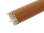 Соединитель 90гр. кухонного цоколя пластик Орех миланский L=1м FIRMAX
