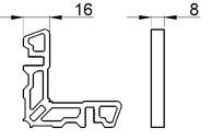 Соединитель угловой наружный ALUMARK для ALM254101\ALM254301
