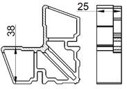 Соединитель угловой внутр ALUMARK для ALM254180