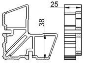 Соединитель угловой внутр ALUMARK для ALM254284