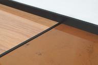 Средняя планка для наборных фасадов 18 мм, серия MONA, алюминий, L=3000 мм, черный.