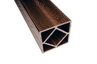 Столб ДПК (текстура дерева) шоколад, 120х120х3000 мм