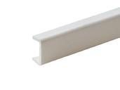 Торцевая заглушка кухонного цоколя пластик Белый L=1м FIRMAX