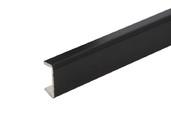 Торцевая заглушка кухонного цоколя пластик Черный L=1м FIRMAX