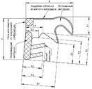 Уплотнитель для окон на наплаве Deventer SP33 (белый) [норма отпуска 5 м]