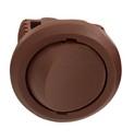 Выключатель врезной кнопочный, коричневый, D-27мм, 5А