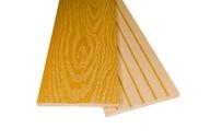 Заборная доска двухсторонняя крупный вельвет с брашингом/текстура дерева пряный шафран, 125х10х3000 мм