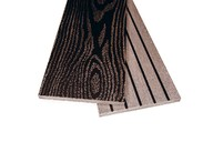 Заборная доска двухсторонняя крупный вельвет с брашингом/текстура дерева венге, 125х10х3000 мм