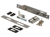 Замок ELEMENTIS с роликом для алюминиевых дверей, ПЦ 30*30 с накладкой, 1155/F23/20