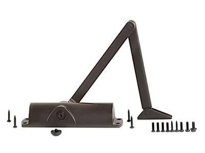 Доводчик Geze TS 1000 с тягой, коричневый Изображение
