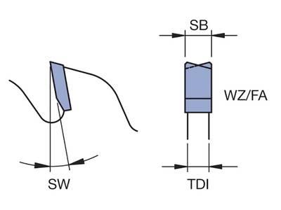 Дисковая пила для резки штапика ПВХ Leitz (D200 SB1.7 TDI1.3 BO32 Z80 FZ/TR HW posit.) [760136] Изображение 2