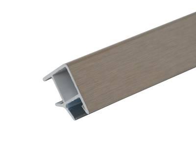 Соединитель 90° цоколя ПВХ, фольга инокс 66 см FIRMAX Изображение