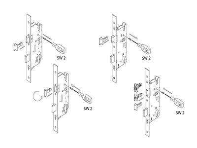Замок Maxbar №856 привод от ручки, F16/40/92/8мм, 4 ролика, цапфа, серебро, удлиняемый Изображение 4