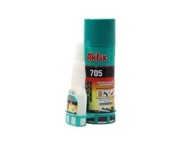 AKFIX 705 Набор для склеивания: клей цианоакрилатный+активатор (В125 гр + 400мл) (24) Изображение