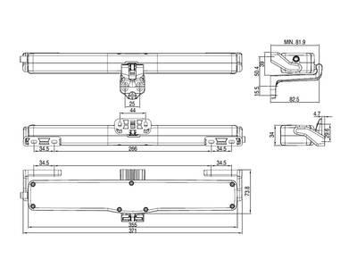 Автоматический привод цепной Giesse VARIA SLIM BASE 230V, черный Изображение 4