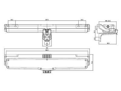 Автоматический привод цепной Giesse VARIA SLIM RADIO 230V, черный Изображение 3