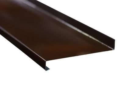 Стальные отливы оконные BAUSET (B=180 мм, L=6 м, коричневый RAL8014) Изображение