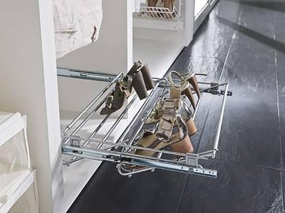 Обувница выдвижная Vibo Basic Range (564-1000 мм, 1 уровень, серебро) Изображение 3