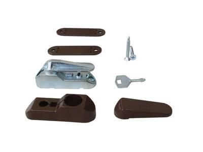 Блокиратор поворота Penkid флажковый с  ключом темно коричневый (детский замок) Изображение 5