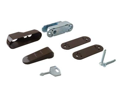 Блокиратор поворота Penkid флажковый с  ключом темно коричневый (детский замок) Изображение 6
