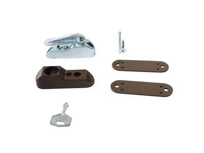 Блокиратор поворота Penkid флажковый с  ключом темно коричневый (детский замок) Изображение