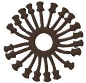 Буффер 15,5мм под соединение Isabel коричневый Изображение