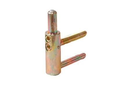 Петля ввертная, 4-штыревая, 3D, рамная часть, диаметр 20 мм, сталь, бихромат Изображение 2