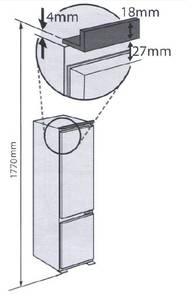 Встраиваемый двухкамерный холодильник Kuppersberg CRB 17762, белый Изображение 7