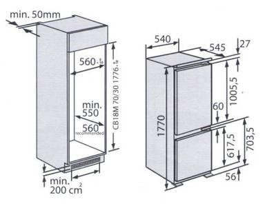 Встраиваемый двухкамерный холодильник Kuppersberg CRB 17762, белый Изображение 8
