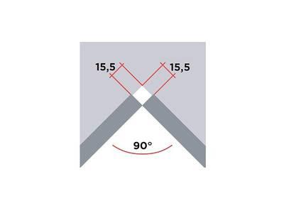 Угловой соед. элемент торцевой накладки SCILM 90° [внутренний угол] (Н=60 мм, алюминий) Изображение 2