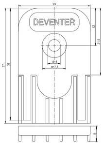 Ответная часть дверного порога DSD1530 Изображение 5