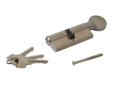 Личинка замка двери с ручкой Roto 40(р)/40(к) (никелированный) Изображение 3