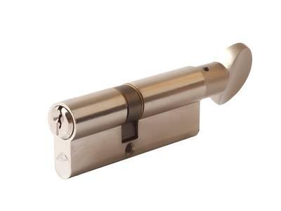 [ПОД ЗАКАЗ] Личинка замка двери с ручкой Roto 45(р)/35(к) (никелированный) Изображение