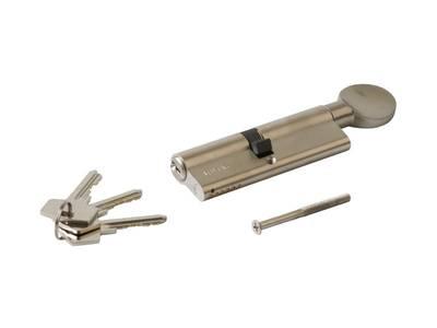 Личинка замка двери с ручкой Roto 50(р)/45(к) (никелированный) Изображение 3