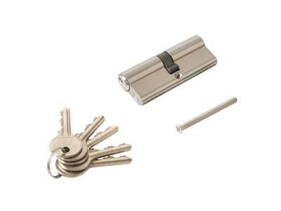 Цилиндр профильный ELEMENTIS  40/40, 5 ключей, никелированный Изображение