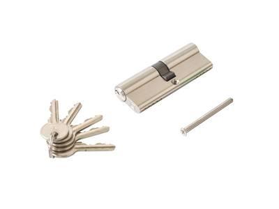 Личинка замка двери Elementis 45/45 (5 ключей, никелированный) Изображение