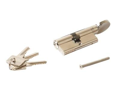 Цилиндр профильный ELEMENTIS с ручкой 35(ключ)/35(ручка), никелированный Изображение 3