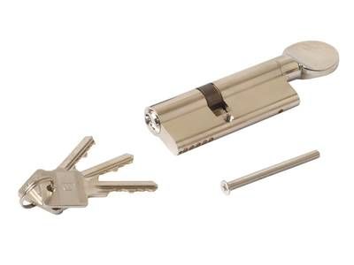 Цилиндр профильный ELEMENTIS с ручкой 35(ключ)/45(ручка), никелированный Изображение 3