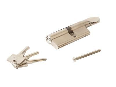 Цилиндр профильный ELEMENTIS с ручкой 35(ручка)/45(ключ), никелированный Изображение 3
