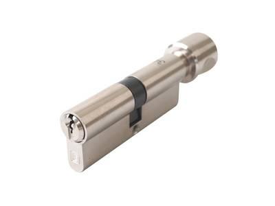 Личинка замка двери с ручкой Elementis 40(к)/40(р) (5 ключей, никелированный) Изображение 3